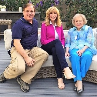 Terry with Leeza Gibbons and Betty White