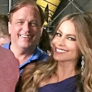 On set with Sofia Vergara